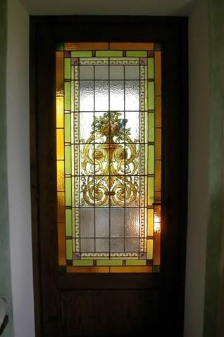 Restauri rifacimenti aggiustature di vetrate artistiche decorate o rilegate emilia romagna - Porte decorate antiche ...