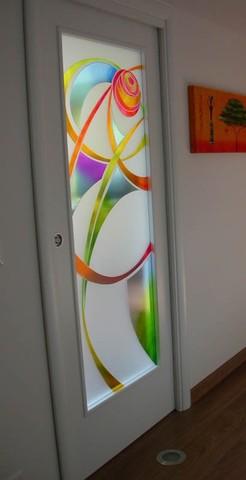 Produzione vetri decorati per porte moderne anche contoterzi vetriartistici - Vetri decorati moderni ...