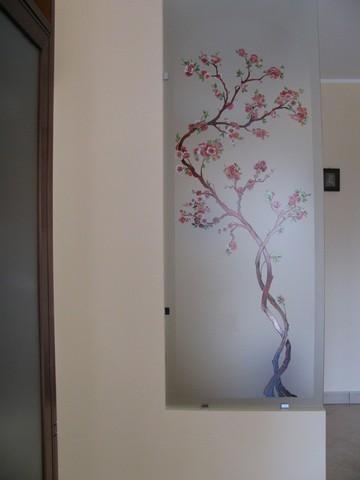 Realizzazione vetri decorati per arredamento divisorie e - Decorazioni su porte interne ...