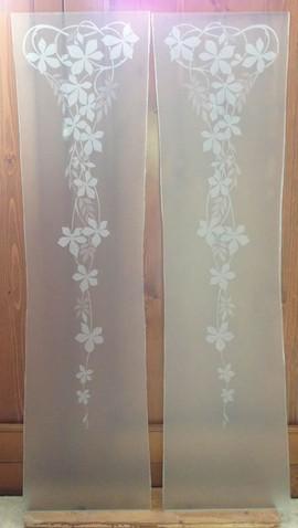 realizzazione vetri decorati o dipinti per arredamento, mobili e ... - Vetri Decorati Per Porte Interne Moderne