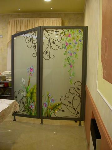 realizzazione vetri decorati per arredamento divisorie e