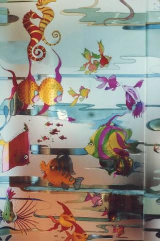 Laboratorio artigiano di pittura vetri decorazione vetrate vetri dipinti vetriartistici - Vetri decorati moderni ...