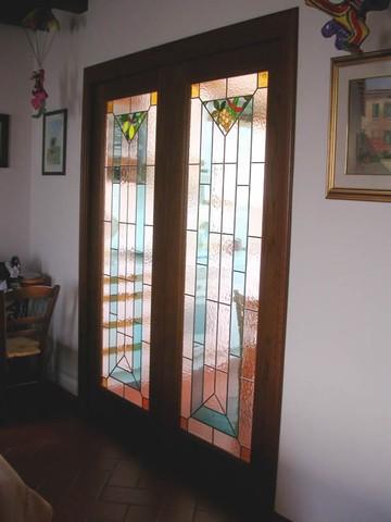 Produzione vetri decorati per porte moderne anche contoterzi vetriartistici - Vetri decorati per porte scorrevoli ...