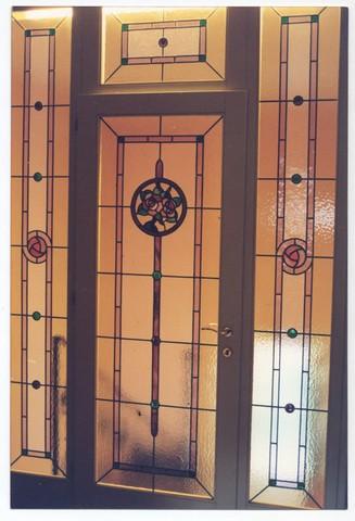 Realizzazione vetri artistici per porte classiche - Sopraluce porta ...