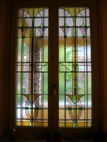 Realizzazione vetrate e vetri artistici decorati per finestre portefinestre modena emilia - Finestre liberty ...