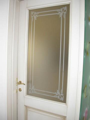 Laboratorio di sabbiatura dio vetri e specchi - Decorazioni su porte interne ...