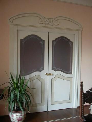Realizzazione vetri artistici per porte classiche: pitturati ...