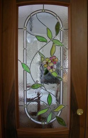 Realizzazione vetri artistici per porte classiche - Decorazioni su porte interne ...