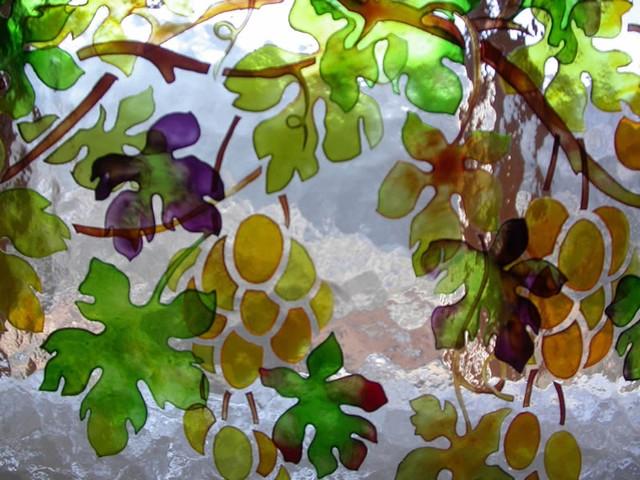 Pittura di vetro e vetrate decorazioni interne a vetri ...