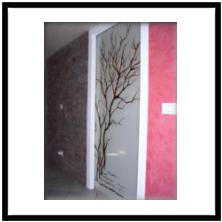 Produzione Vetri decorati per porte moderne anche contoterzi - vetriartistici