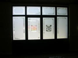 Realizzazione vetrate e vetri artistici decorati per finestre portefinestre modena emilia - Vetri decorati porte interne ...
